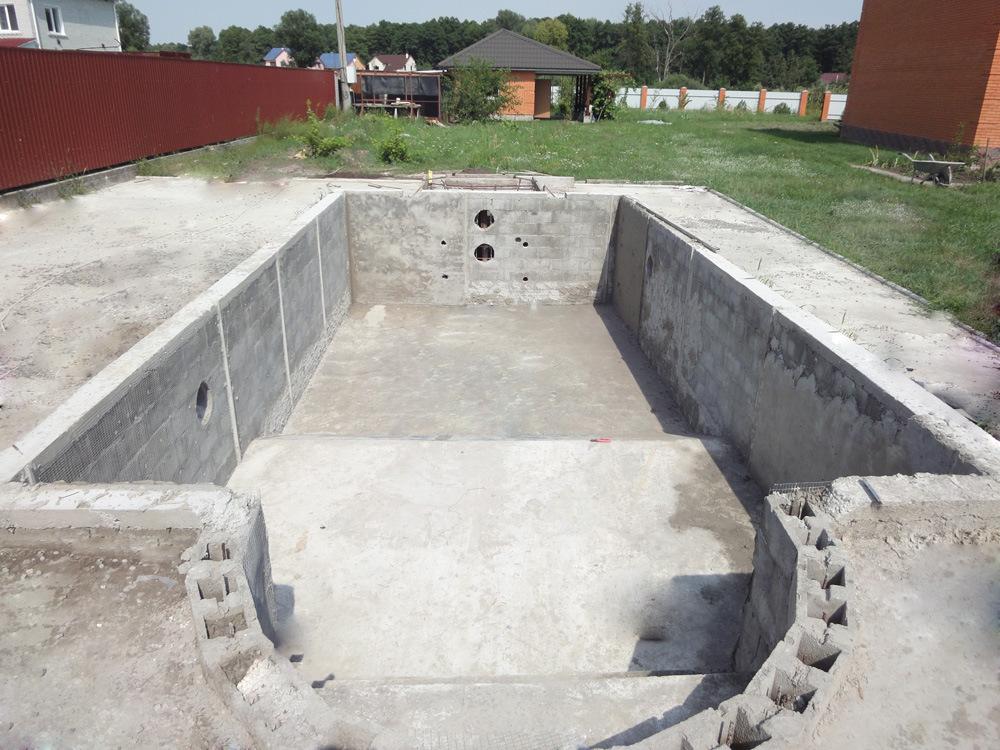 Строительство бассейна из блоков своими руками 42