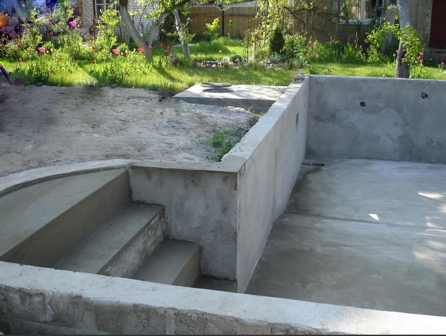 Строительство бассейна из блоков своими руками 28